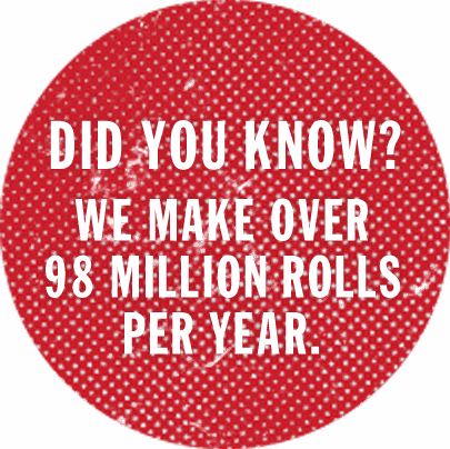 Did you know? We make over 98 million rolls per year